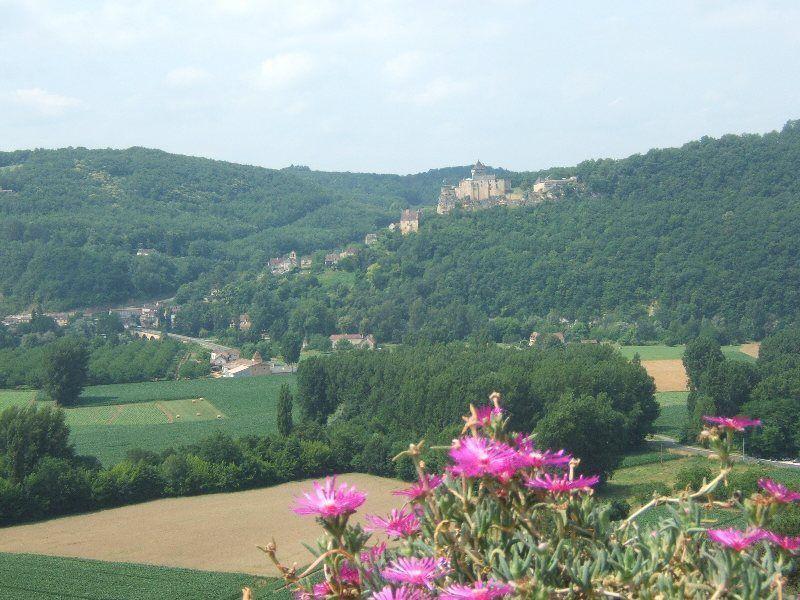 Castelnaud desde los jardines de Marqueyssac