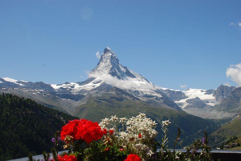 Matterhorn desde terraza en Findeln
