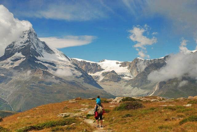 De excursión por Matterhorn y Zermatt en familia