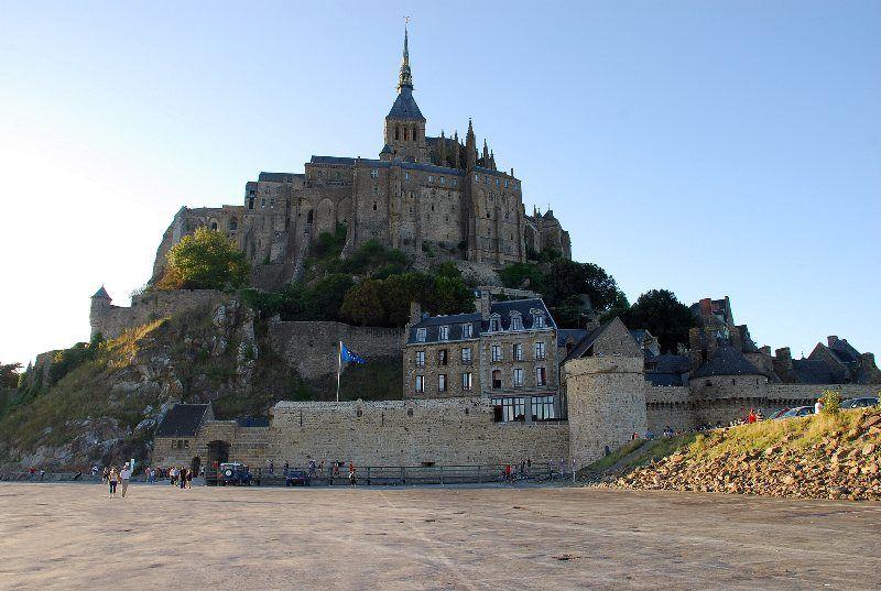 Vista del Mont Saint Michel desde un parking