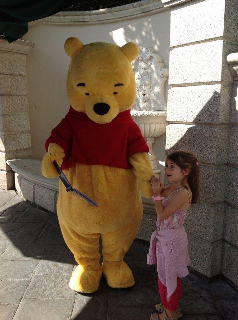 Martina con Winnie de Pooh