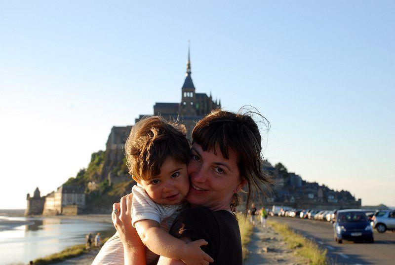Viendo como subía la marea en el Mont Saint Michel