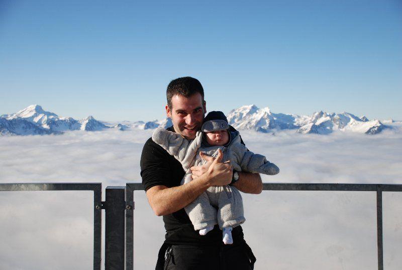 En 2010 llegó Jan y por ser bebé no se escapó de visitar Suiza...