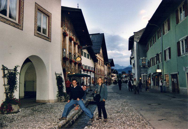 Con los amigos en Mittenwald