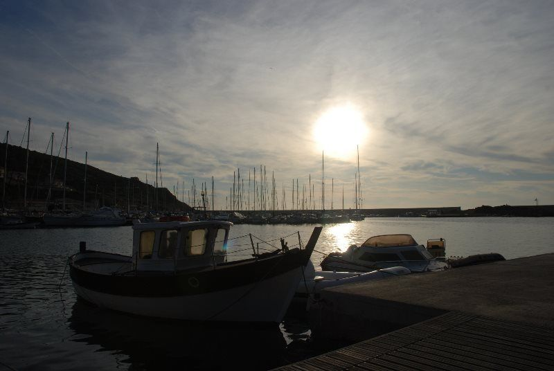 Atardecer en el Puerto de Castelsardo