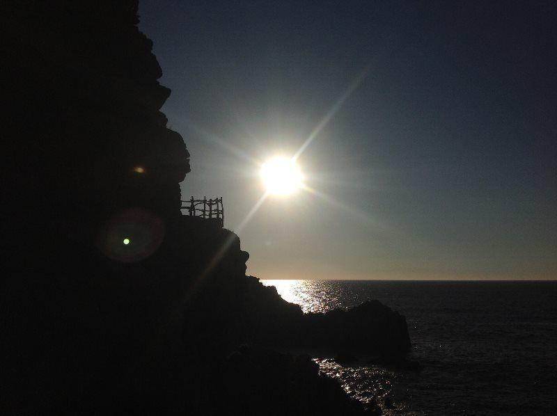 Regresando de Costa Paradiso al atardecer