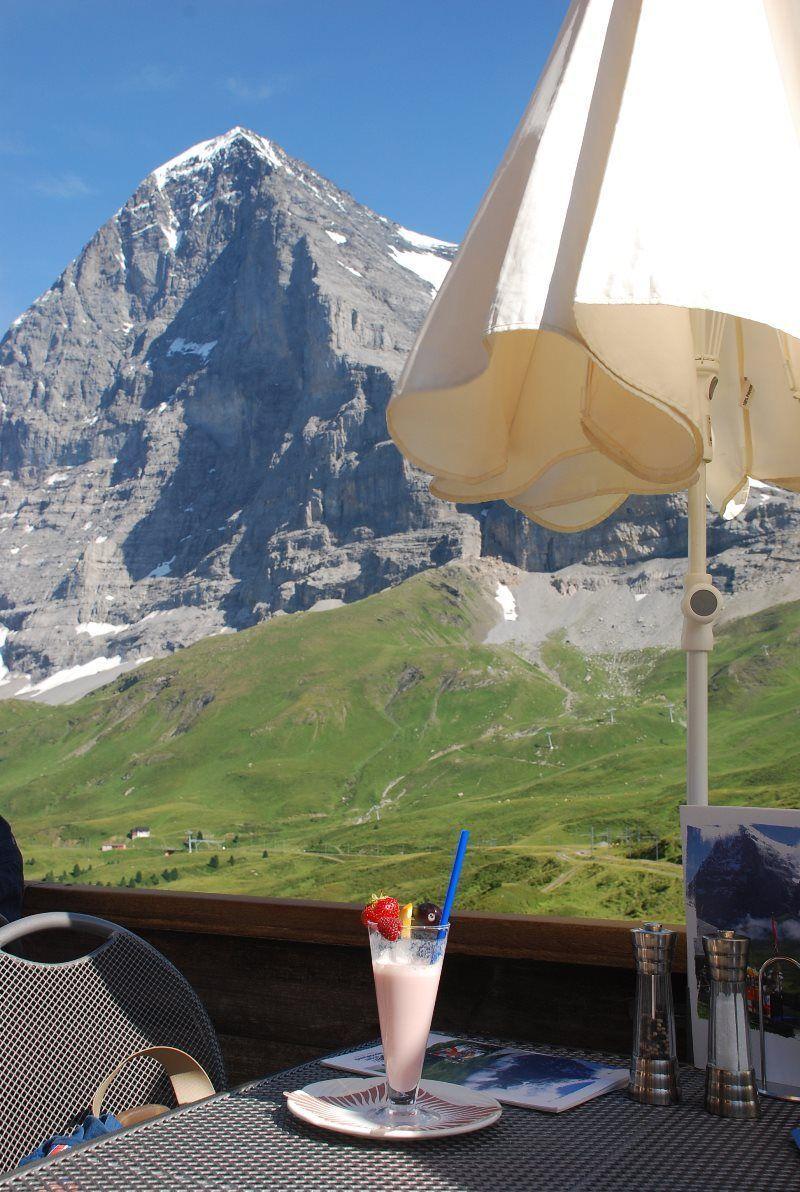 La cara norte del Eiger desde Kleine Scheidegg