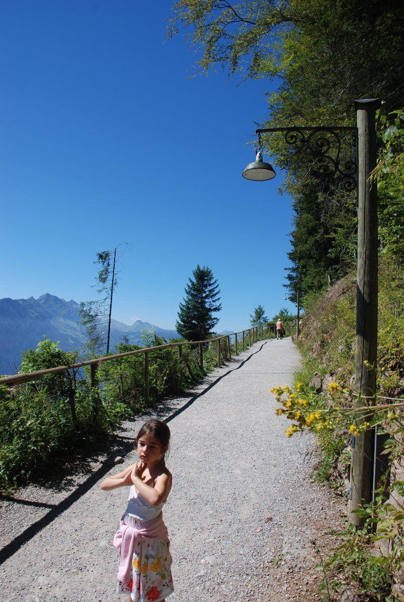 Por el camino hacia la plataforma