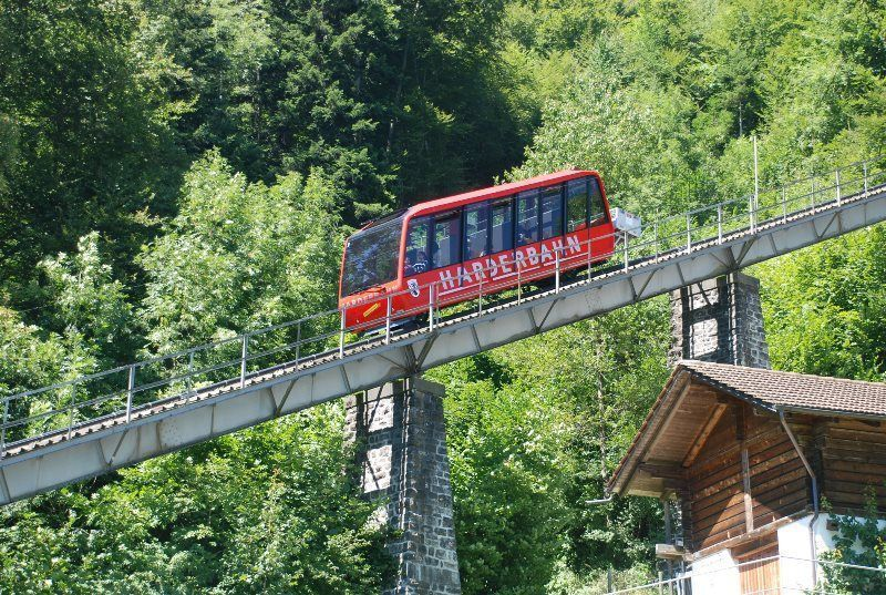 Harderbahn (el funicular del Harder Kulm)