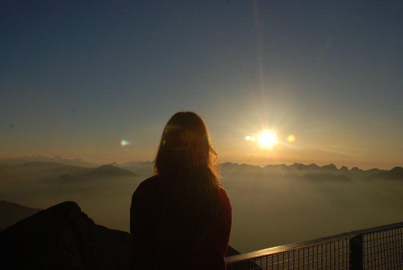Contemplando la puesta de sol