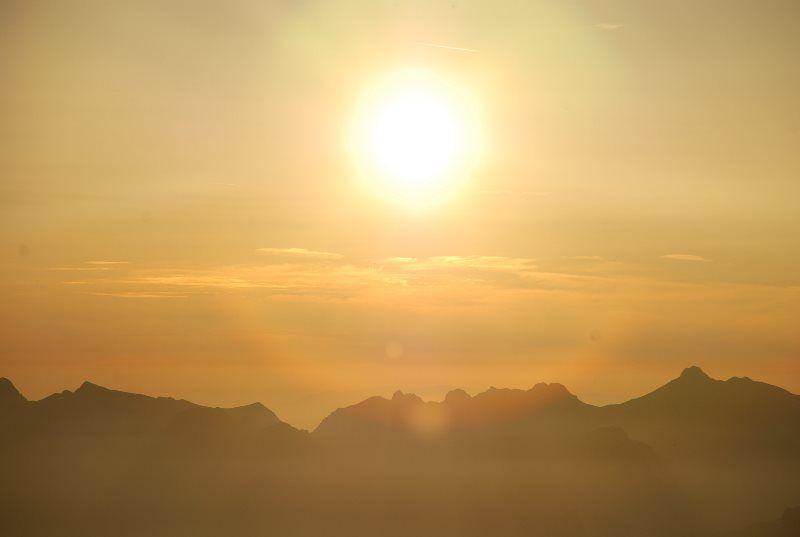 La puesta de sol más bonita de Suiza