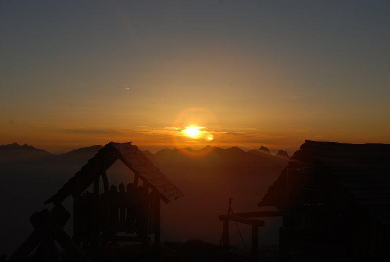 La mejor puesta de sol de Suiza
