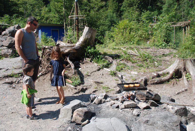 Mini barbacoa en el Blausee