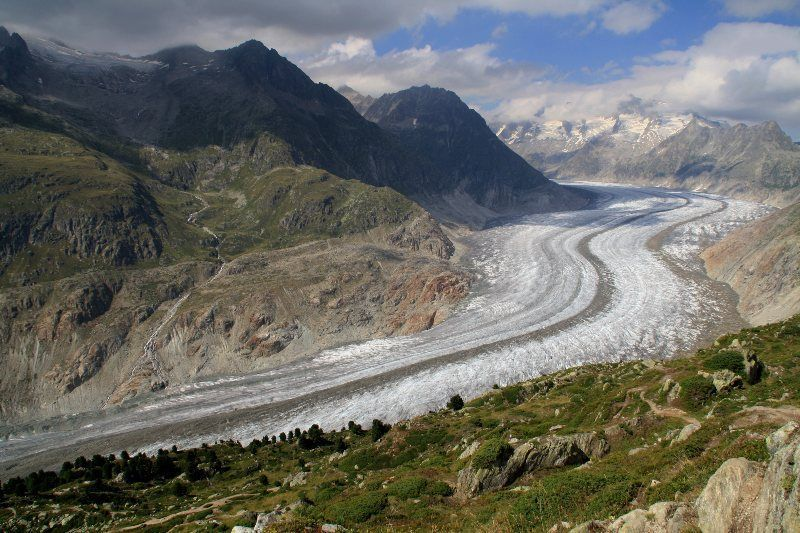 Glaciar Aletsch desde Moosfluh