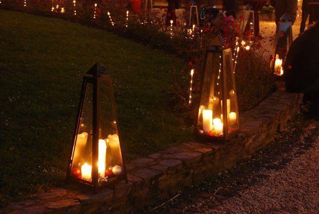 Decoración de Navidad en el castillo de Cochem