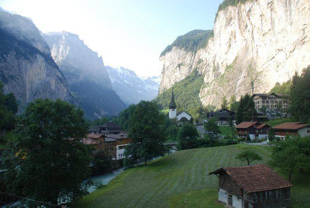 El majestuoso valle de Lauterbrunnen