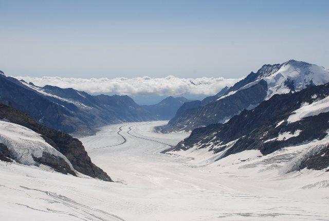 El glaciar Aletsch desde la esfinge
