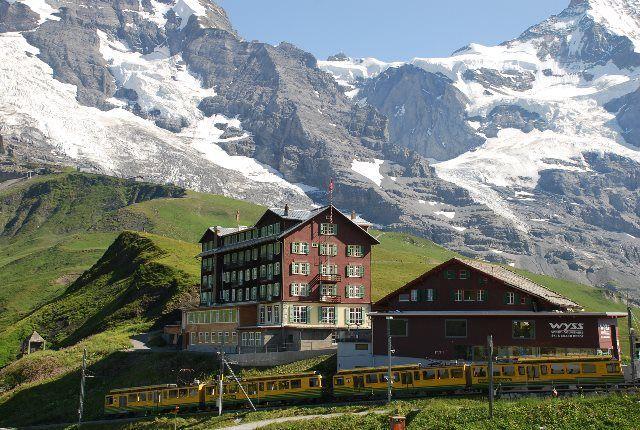 Trenes de montaña en los Alpes suizos