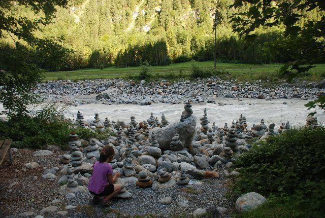 Piedras en el Weisse Lutschine