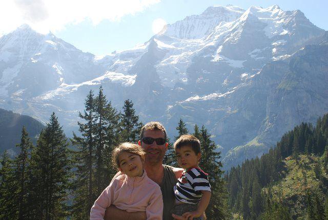 Con los pequeños en Winteregg
