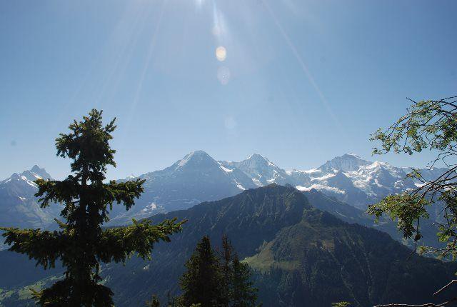 El Eiger, el Mönch y el Jungfrau desde Schynige Platte