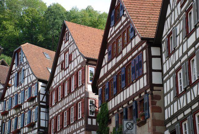 Casas de entramado de madera en Schiltach