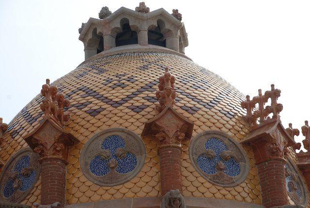 Cúpulas modernistas en Sant Pau