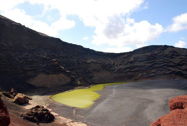 Paisaje de la laguna verde