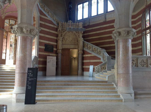 Entrada principal al recinto modernista de Sant Pau