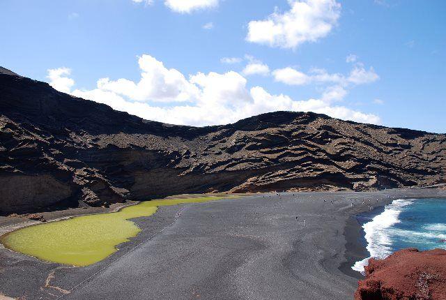 La laguna de los Clicos: la laguna verde de Lanzarote