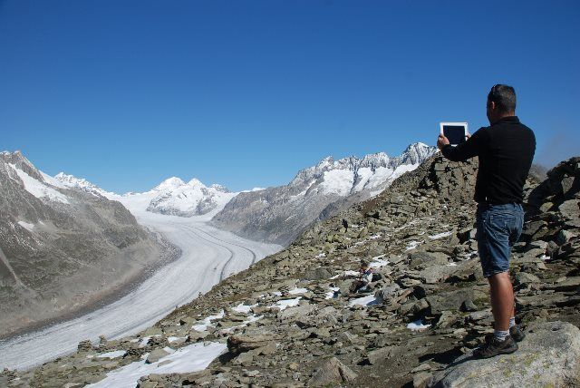 El glaciar Aletsch y la Konkordiaplatz