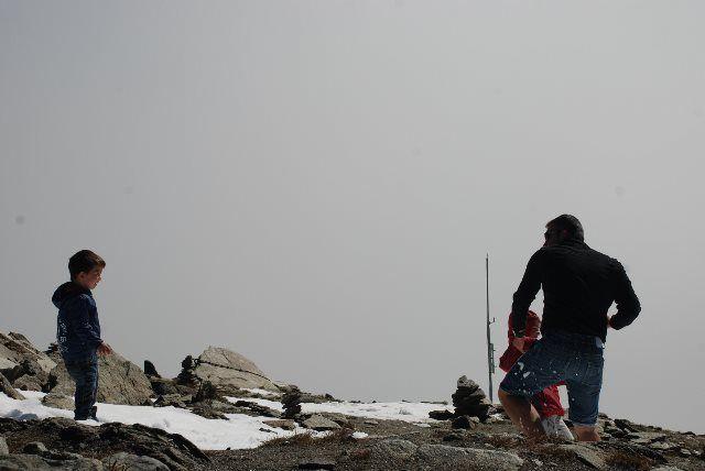 Guerra de bolas de nieve en el Eggishorn