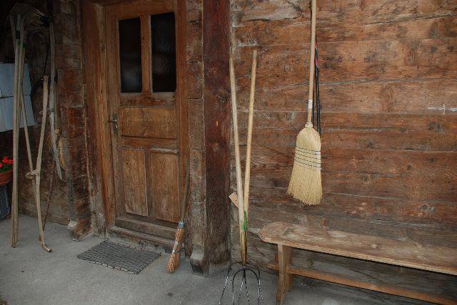 Detalles de las casas de Blatten