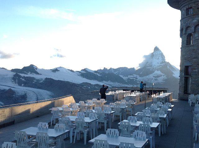 El Matterhorn desde la terraza del Kulm Hotel