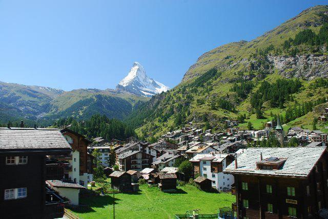 Zermatt desde el tren del Gornergrat
