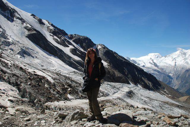 Isa junto al glaciar Trift