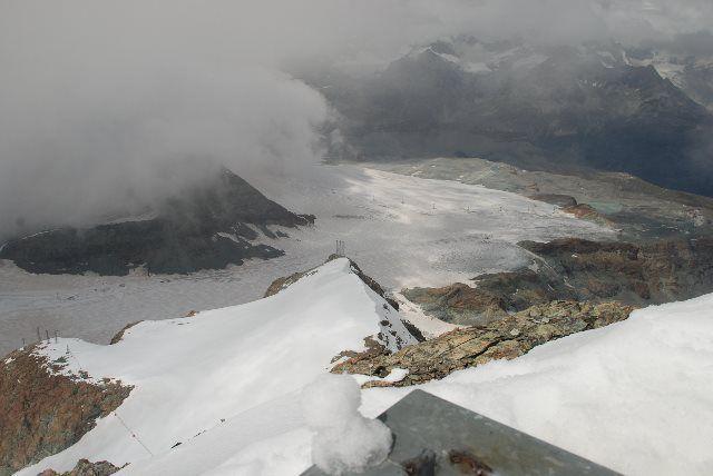 Paisaje que se divisa desde el teleférico de Klein Matterhorn