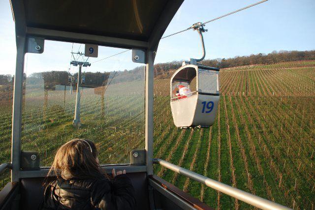 Papa Noel también viaja en teleférico