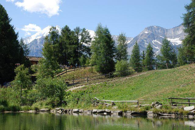 Lago de postal en Graechen
