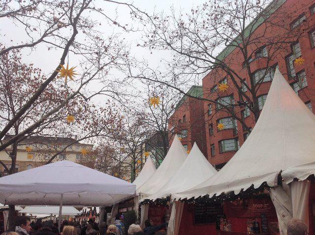 El Mercado de Navidad de Mannheim en la Kapuzinerstrasse