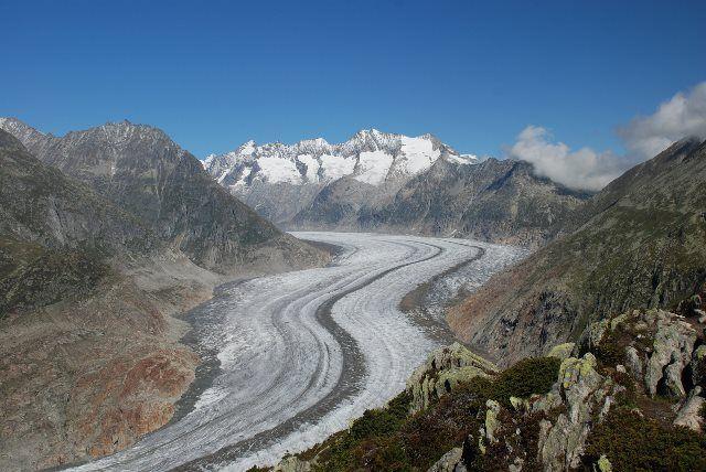 El glaciar Aletsch desde Moosfluh
