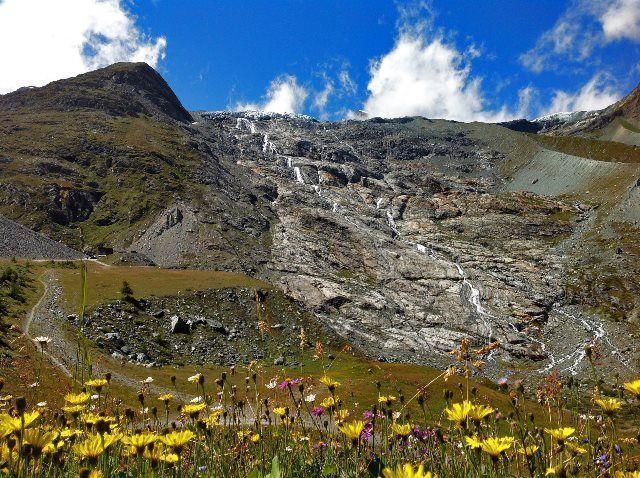 Glaciar en la presa de Mattmark