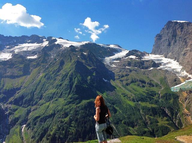 Contemplando los Alpes desde Fürenalp