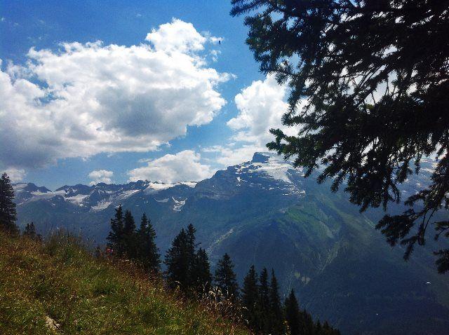 El Monte Titlis desde el camino Rigidalp