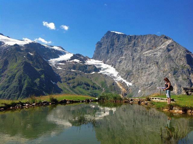 El pequeño estanque de Fürenalp