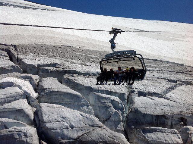 Sobrevolando el glaciar Titlis