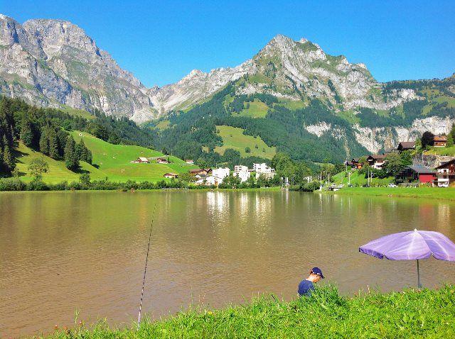 Pesca en el Engelbergersee