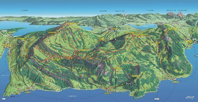 Mapa del Rigi