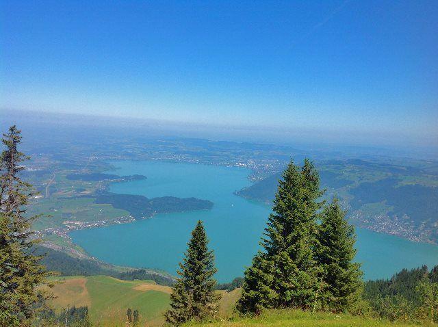 Vista del Zugersee desde Rigi Kulm