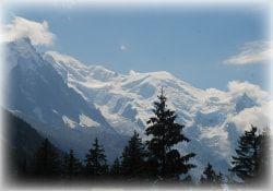 paisaje de los alpes franceses